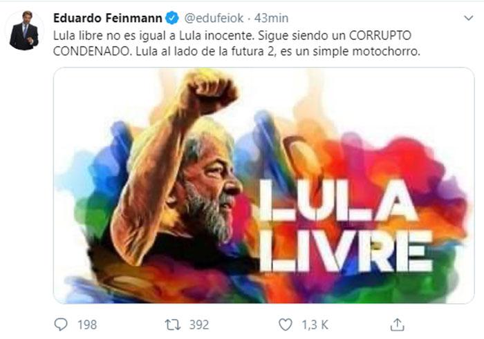 eduardo-feinmann-tuit-lula-y-cristina
