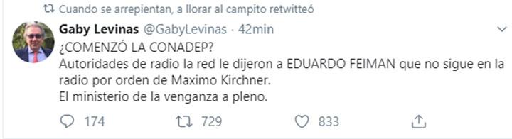 gaby-levinas-tuit-feinmann-radio-la-red-destacada