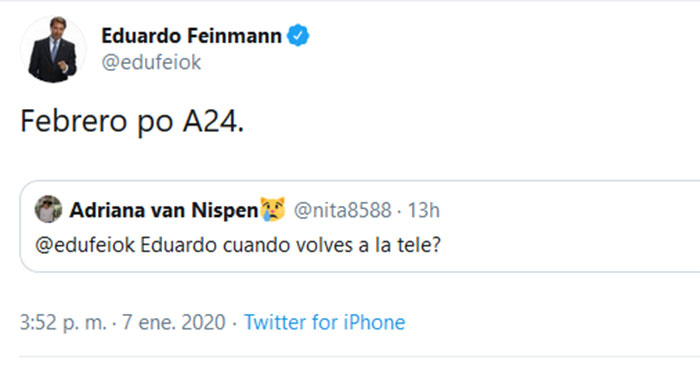 eduardo-feinmann-tuit-regreso-a-la-tv-completo